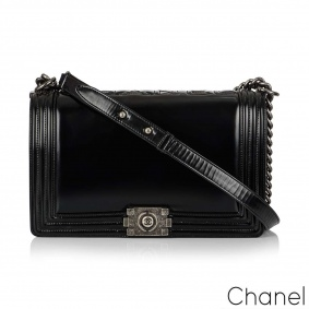 Chanel Reverso Boy Flap Bag Glazed Calfskin